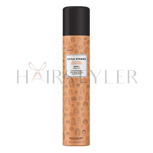 Alfaparf Style Stories Original Hairspray, lakier nabłyszczający, 500 ml