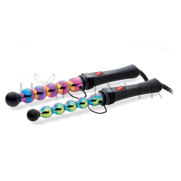 Gamma Più Iron Bubble Rainbow, profesjonalna antystatyczna lokówka do włosów, 25 mm i 33 mm