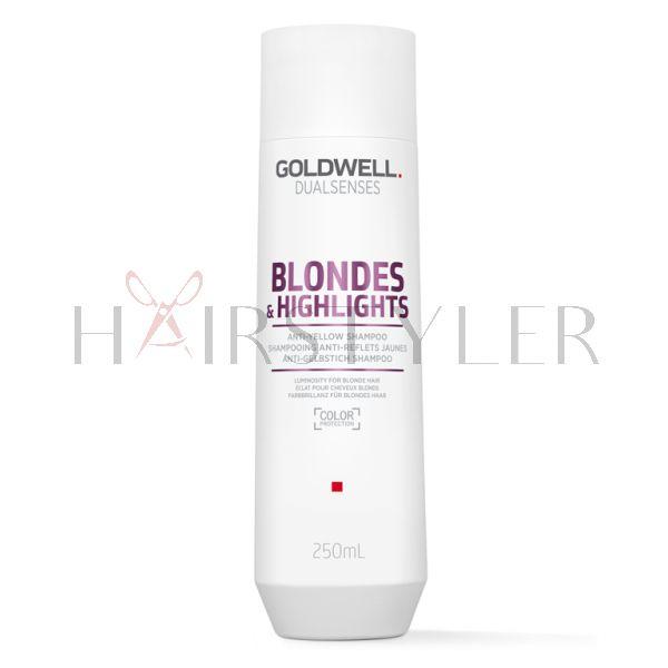 Goldwell Dualsenses Blondes&Highlights, szampon neutralizujący do włosów blond, 250 ml