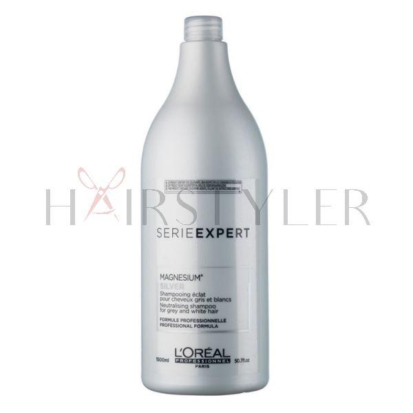 Loreal Expert Silver Magnesium, szampon do włosów siwych lub rozjaśnionych, 1500 ml