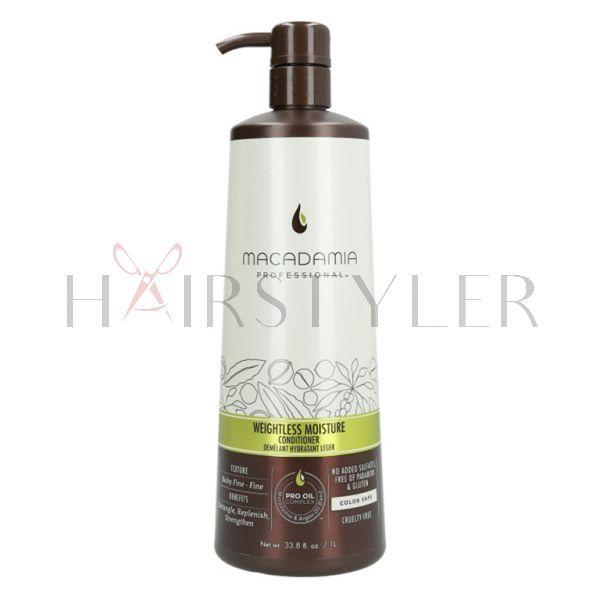 Macadamia Professional Weightless Moisture Conditioner, nawilżająca odżywka do włosów cienkich, 1000ml