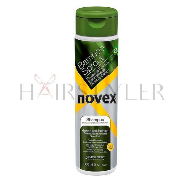 Novex Bamboo Sprout Shampoo, szampon do włosów suchych i łamliwych, 300 ml