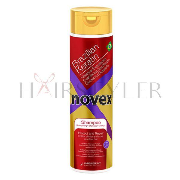 Novex Brazilian Keratin Shampoo, keratynowy szampon do włosów, 300 ml