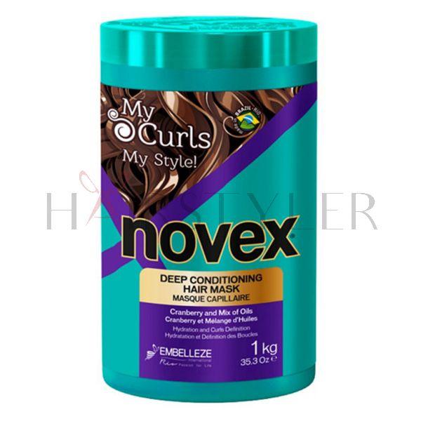 Novex My Curls Mask, nawilżająca maska do włosów kręconych, 1000 g