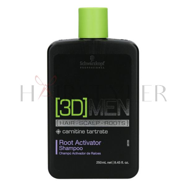 Schwarzkopf 3D Men Root Activator Shampoo, szampon wspomagający wzrost włosów, 250ml