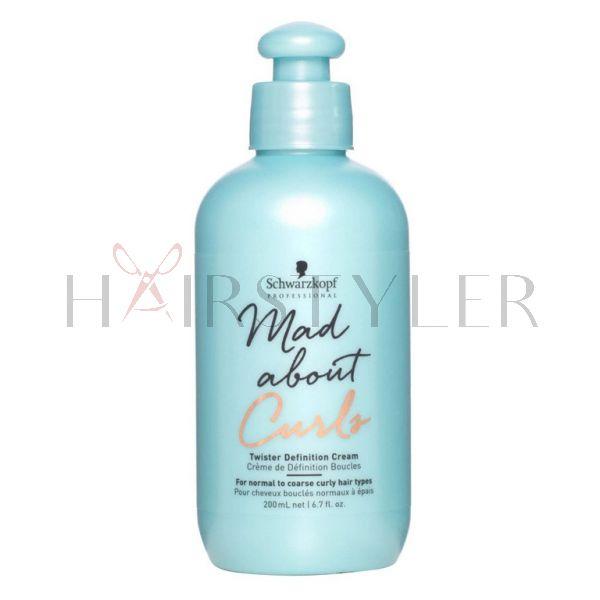 Schwarzkopf BC Mad About Curls Twister Defining Cream, nawilżający krem do stylizacji do włosów kręconych, 200 ml