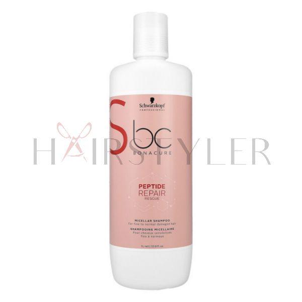 Schwarzkopf BC Repair Rescue Micellar Shampoo, micelarny szampon regenerujący do włosów grubych, 1000 ml