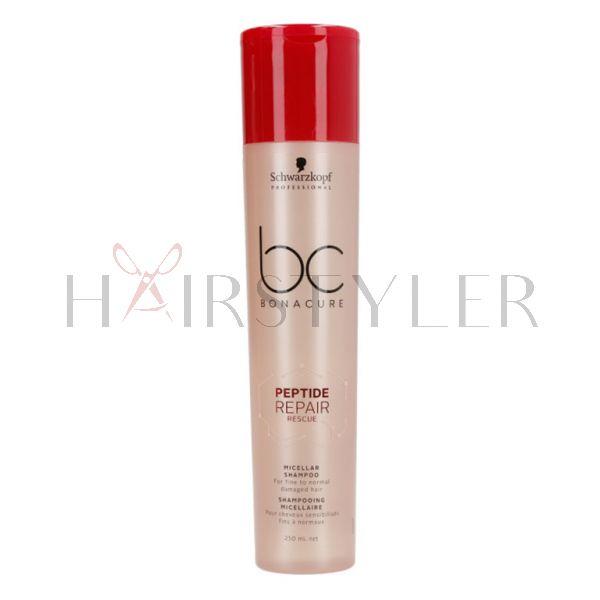Schwarzkopf BC Repair Rescue Micellar Shampoo, micelarny szampon regenerujący do włosów grubych, 250 ml