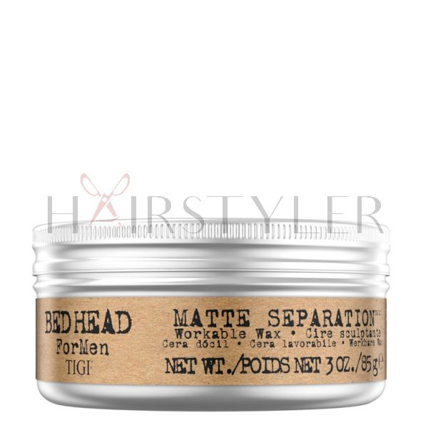 Tigi Bed Head B for Men Matte Separation Wax, wosk matujący do włosów, 85 g
