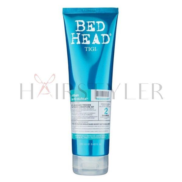 Tigi Bed Head Urban Anti+Dotes Recovery Shampoo, nawilżający szampon do włosów zniszczonych, 250 ml