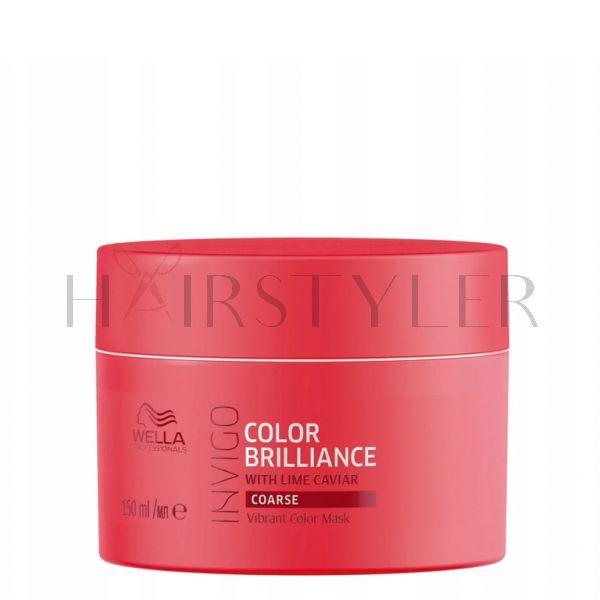Wella Invigo Color Brilliance, maska do włosów farbowanych i grubych, 150 ml