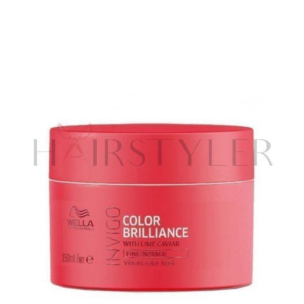 Wella Invigo Color Brilliance, maska do włosów farbowanych, normalnych i cienkich, 150 ml