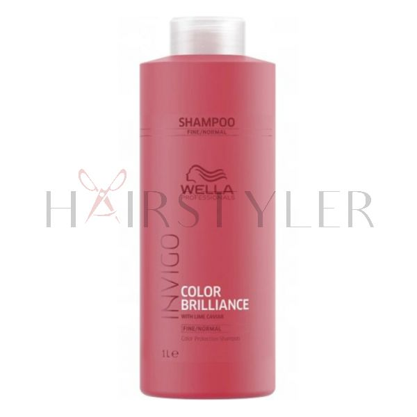 Wella Invigo Color Brilliance, szampon do włosów farbowanych, normalnych i cienkich, 1000 ml