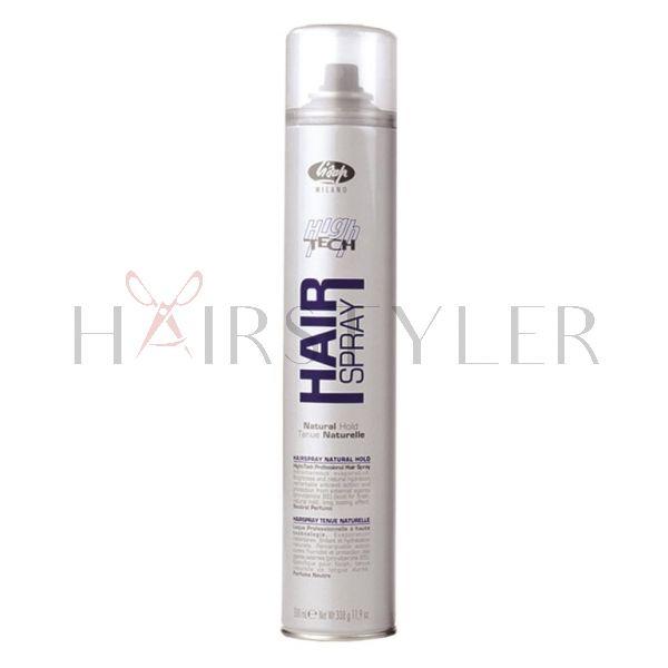 Lisap High Tech Hair Spray Natural Hold, lakier do włosów, 500 ml