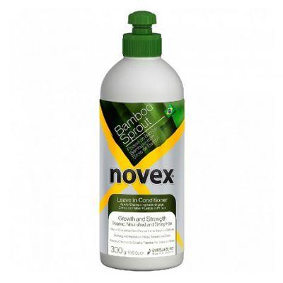 Novex Bamboo Sprout Leave-In Conditioner, odżywka nawilżająca do włosów suchych i łamliwych bez spłukiwania, 300 ml