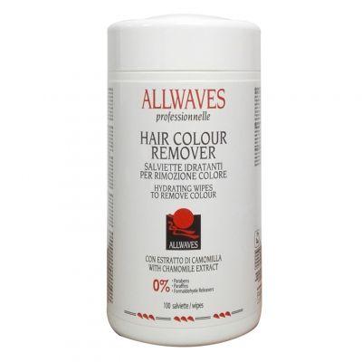 Allwaves Hair Colour Remover, chusteczki do usuwania farby ze skóry, 100 szt.