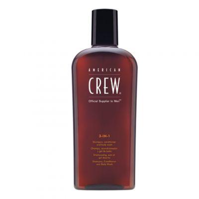 American Crew Classic 3w1, szampon + odżywka + żel do kąpieli, 250 ml