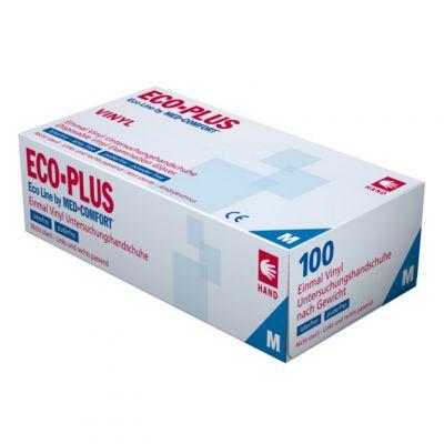 ECO-Plus, rękawice winylowe 100 szt., M