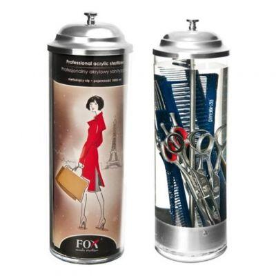 Fox Acrylic Sterilizer, profesjonalny akrylowy pojemnik do sterylizacji, 1000 ml