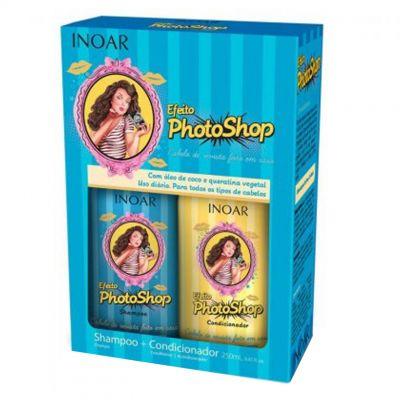 INOAR Efeito PhotoShop, zestaw szampon + odżywka, 2 x 250 ml