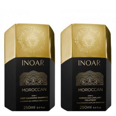 INOAR Moroccan Keratin Treatment, zestaw keratyna 250 ml + szampon 250 ml
