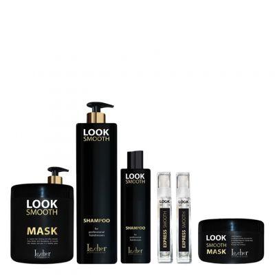 Lecher Look Smooth, zestaw wygładzający + Serum Express 50 ml + Szampon 250 ml + Maska 300 ml GRATIS
