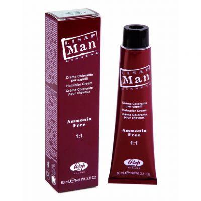 Lisap Man, bezmoniakalna farba do włosów dla mężczyzn, 60 ml