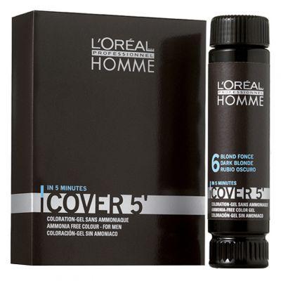 Loreal, Cover 5', Żel do koloryzacji włosów dla mężczyzn, 3 x 50 ml