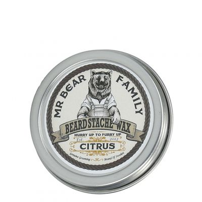 Mr. Bear Family Beard Moustache Wax Citrus, cytrusowy wosk do wąsów, 30ml