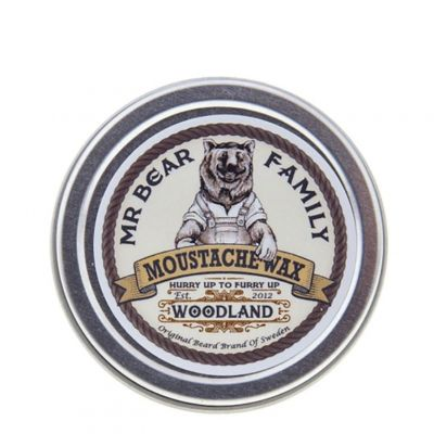 Mr. Bear Family Beard Moustache Wax Woodland, leśny wosk do wąsów, 30ml