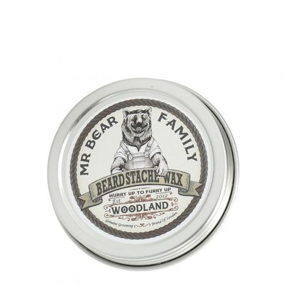 Mr. Bear Family Beard Stache Wax Woodland, leśny wosk do wąsów i brody, 30ml
