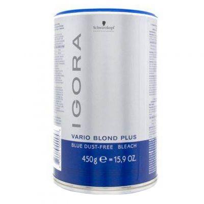 Schwarzkopf Igora Vario Blond Extra Plus, niebieski puder rozjaśniający do 7 tonów, 450 g