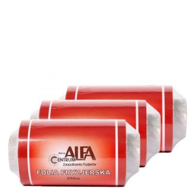 Zestaw Alfa Centrum, 3 x folia fryzjerska do balejażu, 250 m
