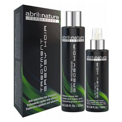 Abril Et Nature Fepean 2000 Treatment Greasy Hair, szampon + lotion przeznaczony do włosów z tendencją do łojotoku, 250ml + 100ml