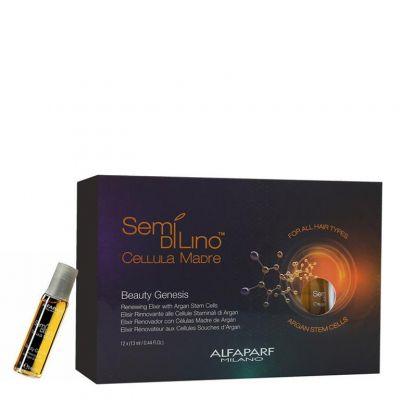 Alfaparf Semi Di Lino Cellula Madre Beauty Genesis, arganowy eliksir regenerujący, 12 x 13 ml