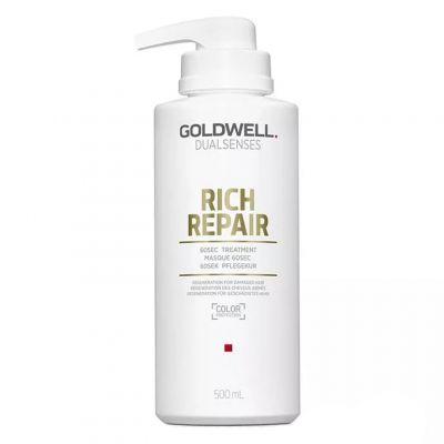 Goldwell Dualsenses Rich Repair 60-sek, kuracja do włosów suchych i zniszczonych, 500 ml