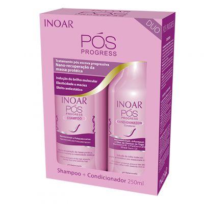 Inoar Pos Progress, szampon 250 ml + odżywka 250 ml po keratynowym prostowaniu