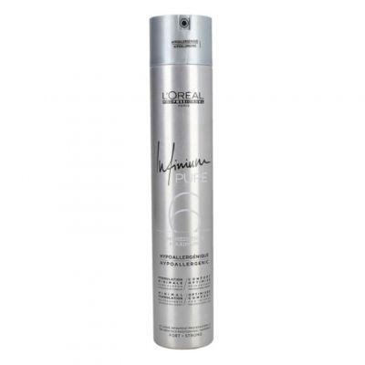 Loreal Infinium Pure Soft, bezzapachowy lakier do włosów, 500 ml