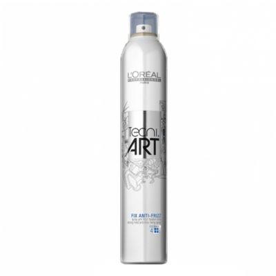 Loreal Tecni Art Fix Anti-Frizz, spray mocno utrwalający, 400 ml