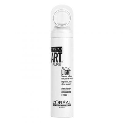 Loreal Tecni Art Ring Light, Pure, supermocny lakier nabłyszczający, 150 ml