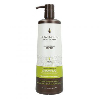 Macadamia Professional Weightless Moisture Shampoo, nawilżający szampon do włosów cienkich, 1000ml