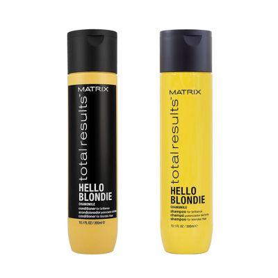 Matrix Hello Blondie Zestaw do włosów Blond, Szampon + Odżywka 300 ml