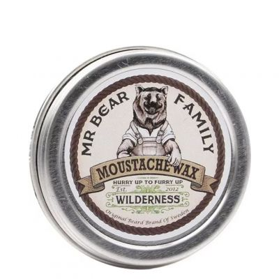 Mr. Bear Family Beard Moustache Wax Wilderness, zapachowy wosk do wąsów, 30ml
