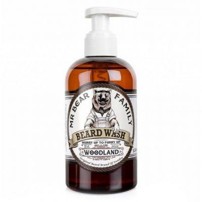 Mr. Bear Family Beard Wash Woodland, leśny szampon do brody, 250ml