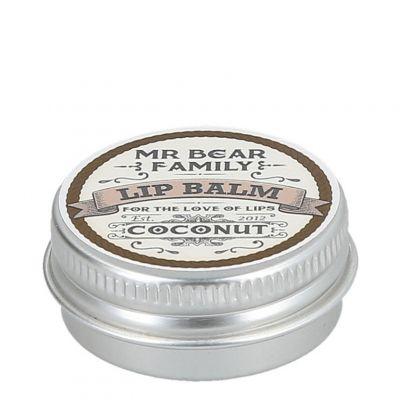 Mr. Bear Family Lip Balm Coconut, kokosowy balsam do ust dla mężczyzn, 15ml