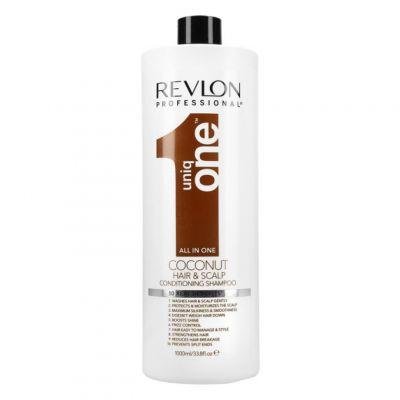 Revlon Uniq One Coconut Shampoo, nawilżający szampon do włosów, 1000ml