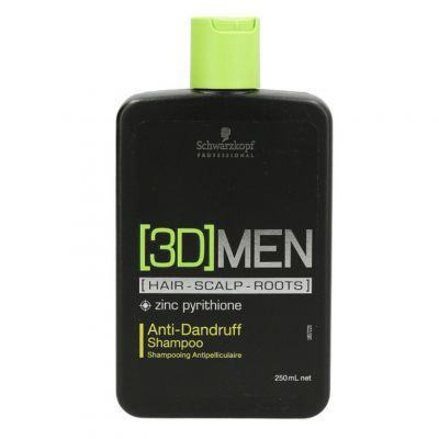 Schwarzkopf 3D Anti Dandruff, szampon przeciwłupieżowy dla mężczyzn, 250ml