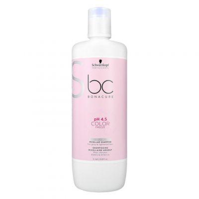Schwarzkopf BC Color Silver Micellar Shampoo, szampon micelarny do włosów farbowanych, 1000 ml