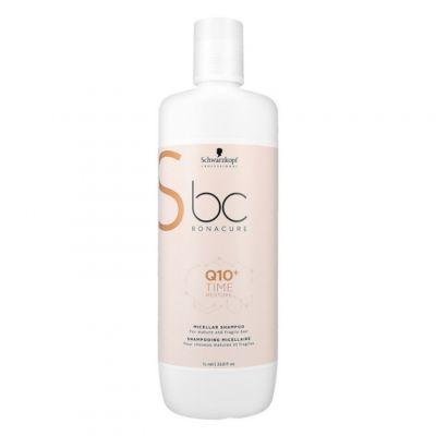 Schwarzkopf BC Time Restore Q10, szampon odbudowujący włosy zniszczone, 1000 ml