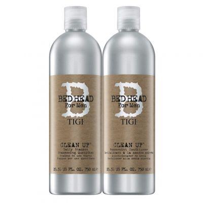 Tigi Bed Head B for Men Clean Up Peppermint Twins Set, zestaw do codziennego użytku, szampon + odżywka, 2 x 750 ml